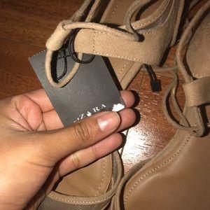 Zara tan sandals / flats